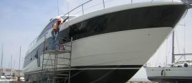 Lucidatura yacht